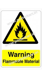 S0015 - Warning Flammable Materials