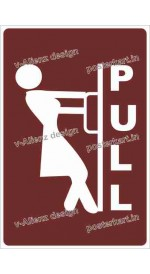 S0082 - PULL Female sign